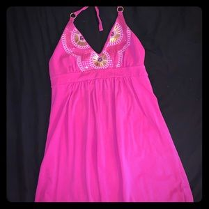 Pink Victoria's Secret halter babydoll dress